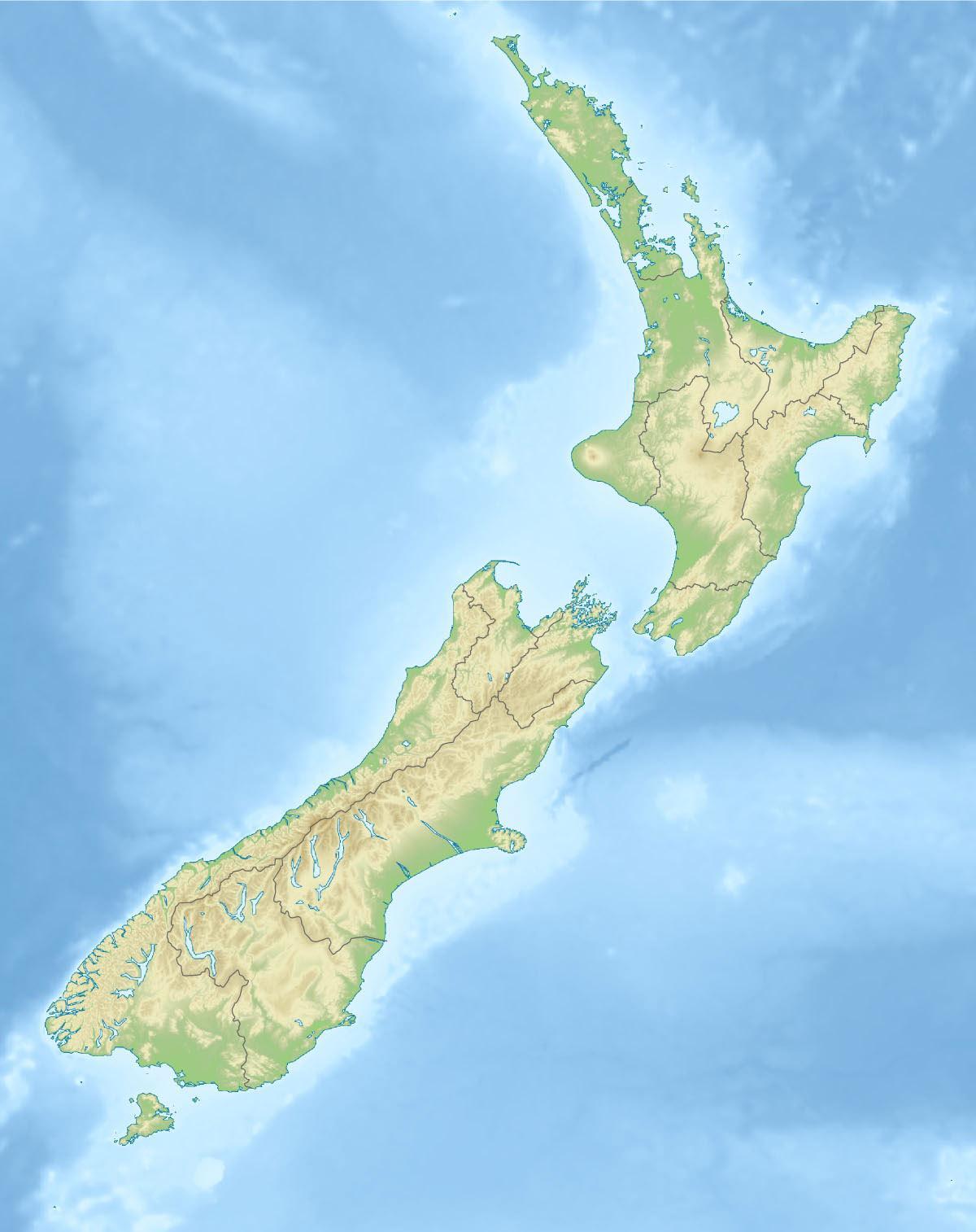 Cartina Nuova Zelanda.Nuova Zelanda Mappa Fisica Nuova Zelanda Caratteristiche Fisiche Mappa Australia E Nuova Zelanda Oceania