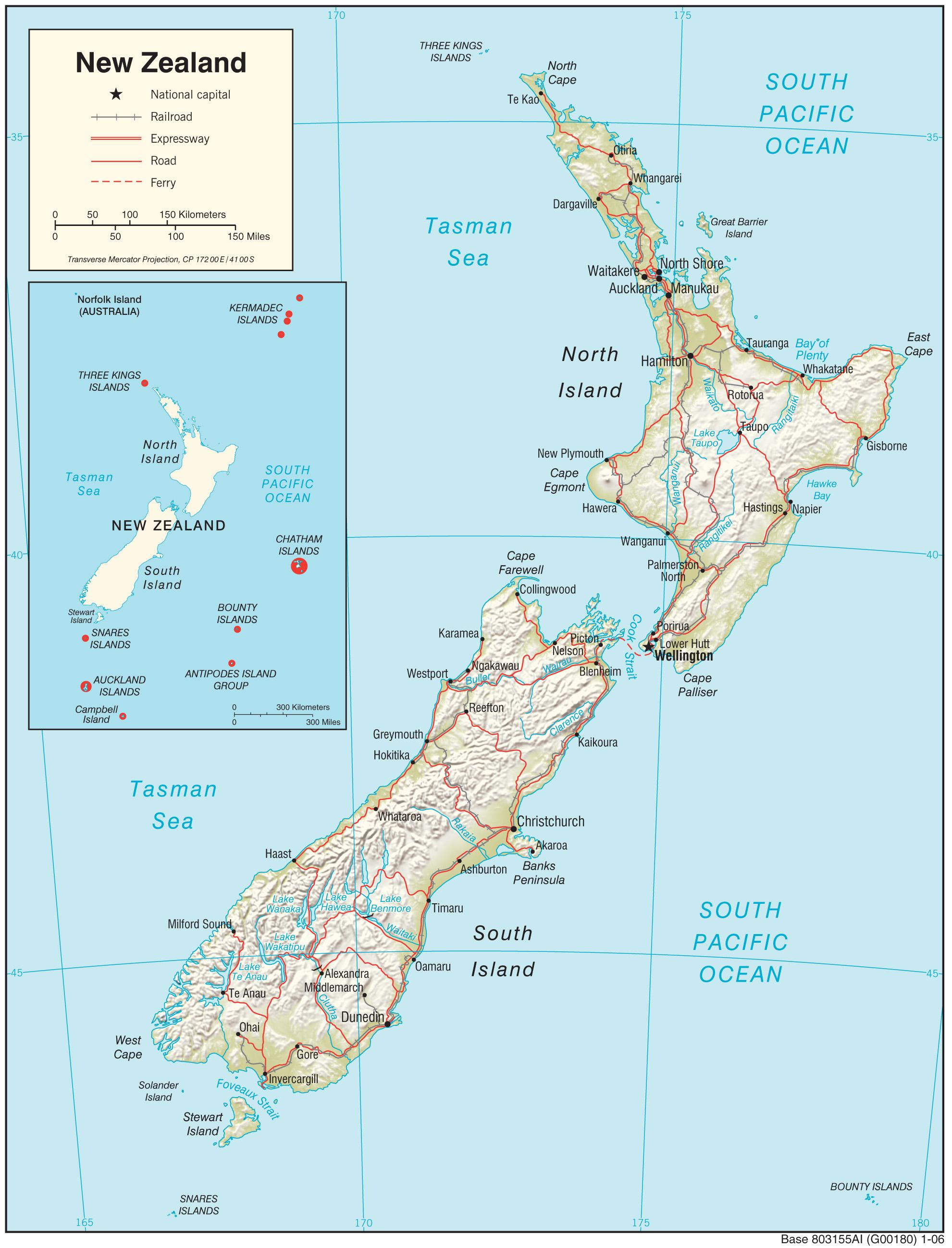 Cartina Nuova Zelanda.Nuova Zelanda Mappa Nuova Zelanda Map Hd Australia E Nuova Zelanda Oceania