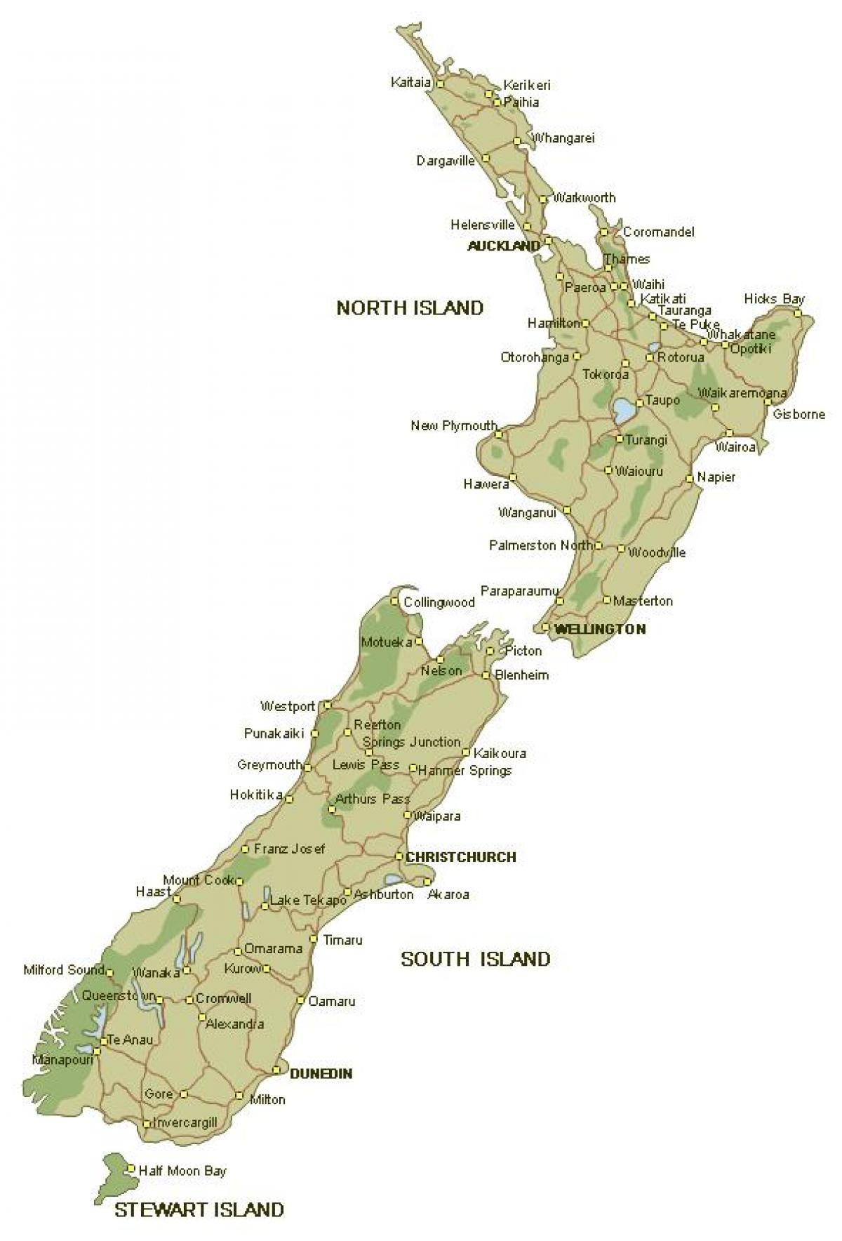 Cartina Nuova Zelanda.Mappa Dettagliata Della Nuova Zelanda Mappa Della Mappa Della Nuova Zelanda L Australia E La Nuova Zelanda Oceania