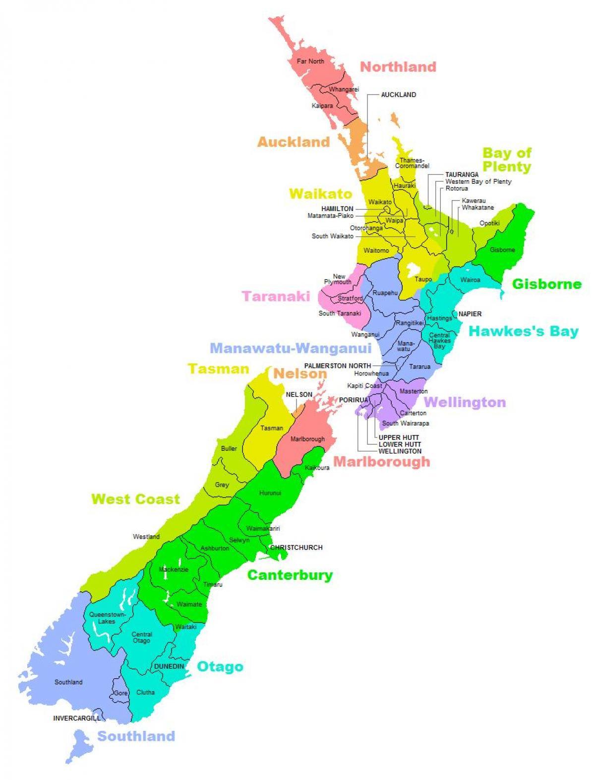 Cartina Dell Australia Politica.Nuova Zelanda Mappa Politica Cartina Politica Dell
