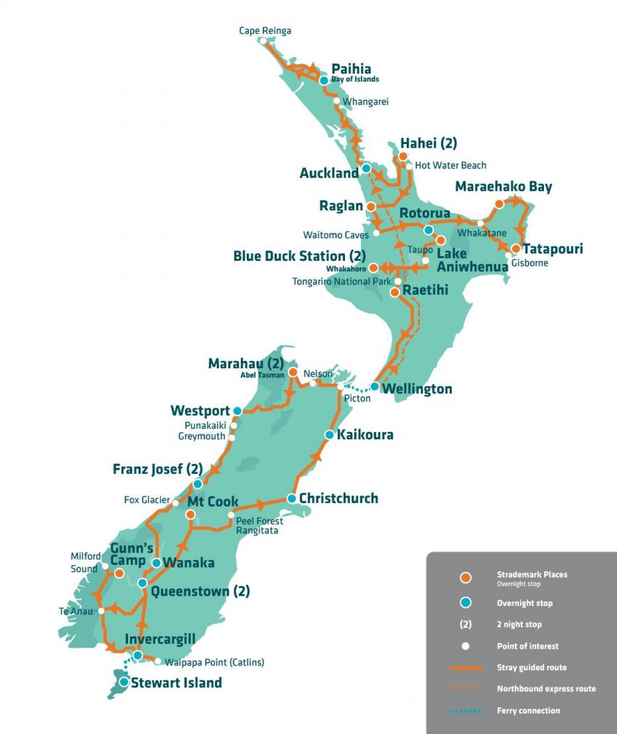 Cartina Nuova Zelanda.Nuova Zelanda Viaggio Di Mappa Nuova Zelanda Attrazione Mappa Australia E Nuova Zelanda Oceania